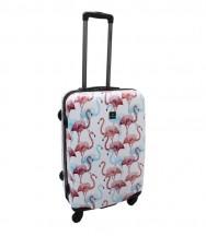 Saxoline Flamingo Walizka średnia kolorowa