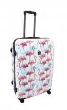 Saxoline Flamingo Walizka duża kolorowa