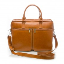 Solier Gold Torba na laptopa camel
