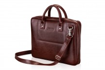 Solier Gold Torba na laptopa burgund