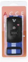 Roncato Accessories Pas do bagażu szyfrowy TSA niebieski