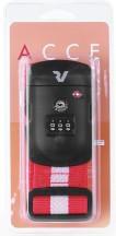 Roncato Accessories Pas do bagażu szyfrowy TSA czerwony