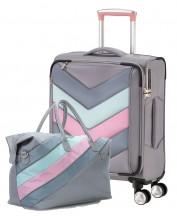 Komplet walizka kabinowa i torba podręczna TITAN Spotlight