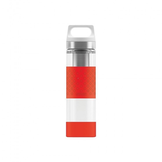 SIGG Hot & Cold Glass Termos czerwony