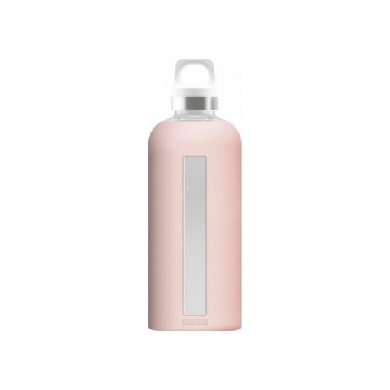 SIGG Star Butelka szklana różowa