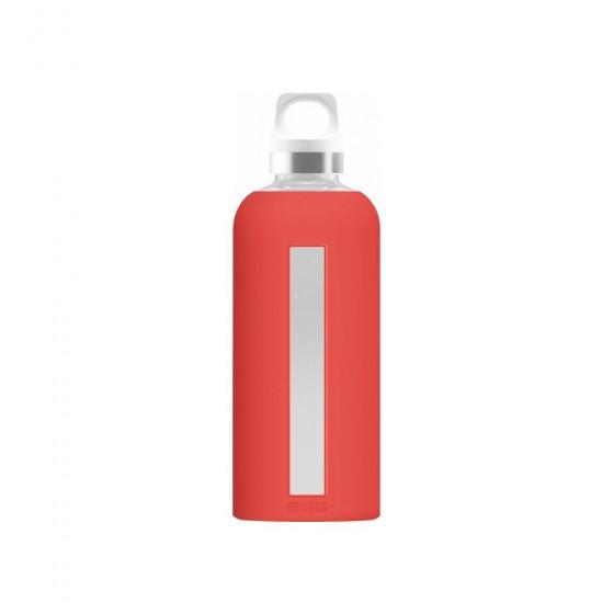 SIGG Star Butelka szklana czerwona