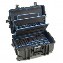 B&W International Walizka specjalistyczna na kółkach z wnętrzem na narzędzia Outdoor Cases czarna