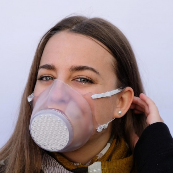 Roncato Health Botect Maska higieniczna wielorazowa - Zestaw 2 sztuki bezbarwna