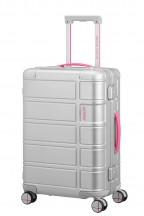 American Tourister Alumo Walizka mała srebrna/pink