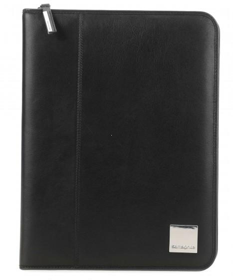 Samsonite Stationery Leather Organizer, teczka konferencyjna czarna