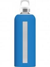 SIGG Star Butelka szklana niebieska