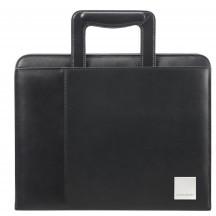 Samsonite Stationery Leather Aktówka, teczka konferencyjna czarna