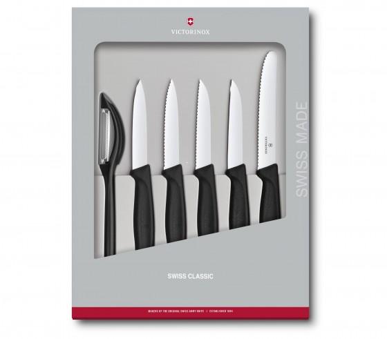 Victorinox Swiss Classic Zestaw noży do warzyw, owoców czarny