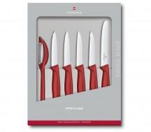 Victorinox Swiss Classic Zestaw noży do warzyw, owoców czerwony