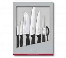 Victorinox Swiss Classic Zestaw noży do warzyw, owoców, chleba, mięsa czarny