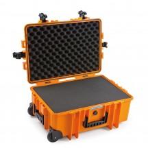 B&W International Walizka specjalistyczna na kółkach z miękką pianką Outdoor Cases pomarańczowa
