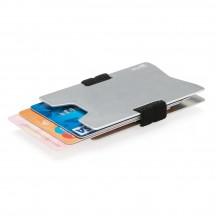XD Collection etui RFID anty kradzieżowe srebrne
