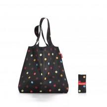 Reisenthel mini maxi shopper Torba na zakupy czarna kropki