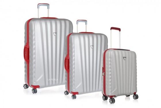 Roncato Uno SL Komplet 3 walizek srebrny