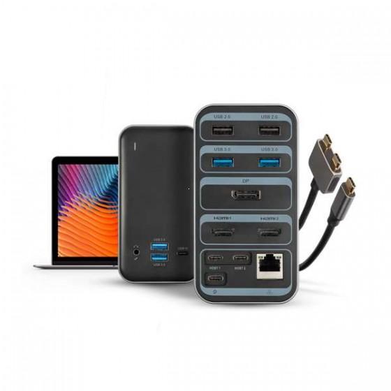 XTORM Stacja dokująca, Worx USB-C czarna