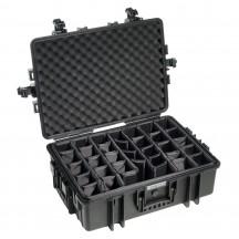 B&W International Walizka specjalistyczna z z podziałką wewnętrzną Outdoor Cases czarna