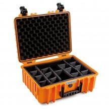 B&W International Walizka specjalistyczna z podziałką wewnętrzną Outdoor Cases pomarańczowa