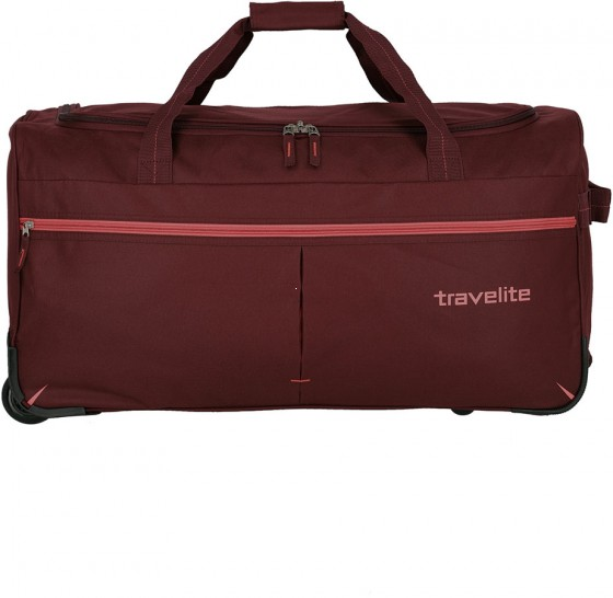 Travelite Basics Fast Torba podróżna na kółkach bordowa