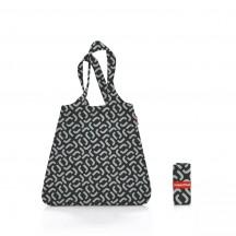 Reisenthel mini maxi shopper Torba na zakupy czarny wzór