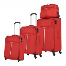 Travelite Speedline Komplet 3 walizek i torba podręczna czerwony