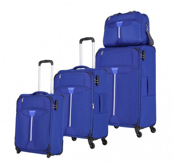 Travelite Speedline Komplet 3 walizek i torba podręczna niebieski