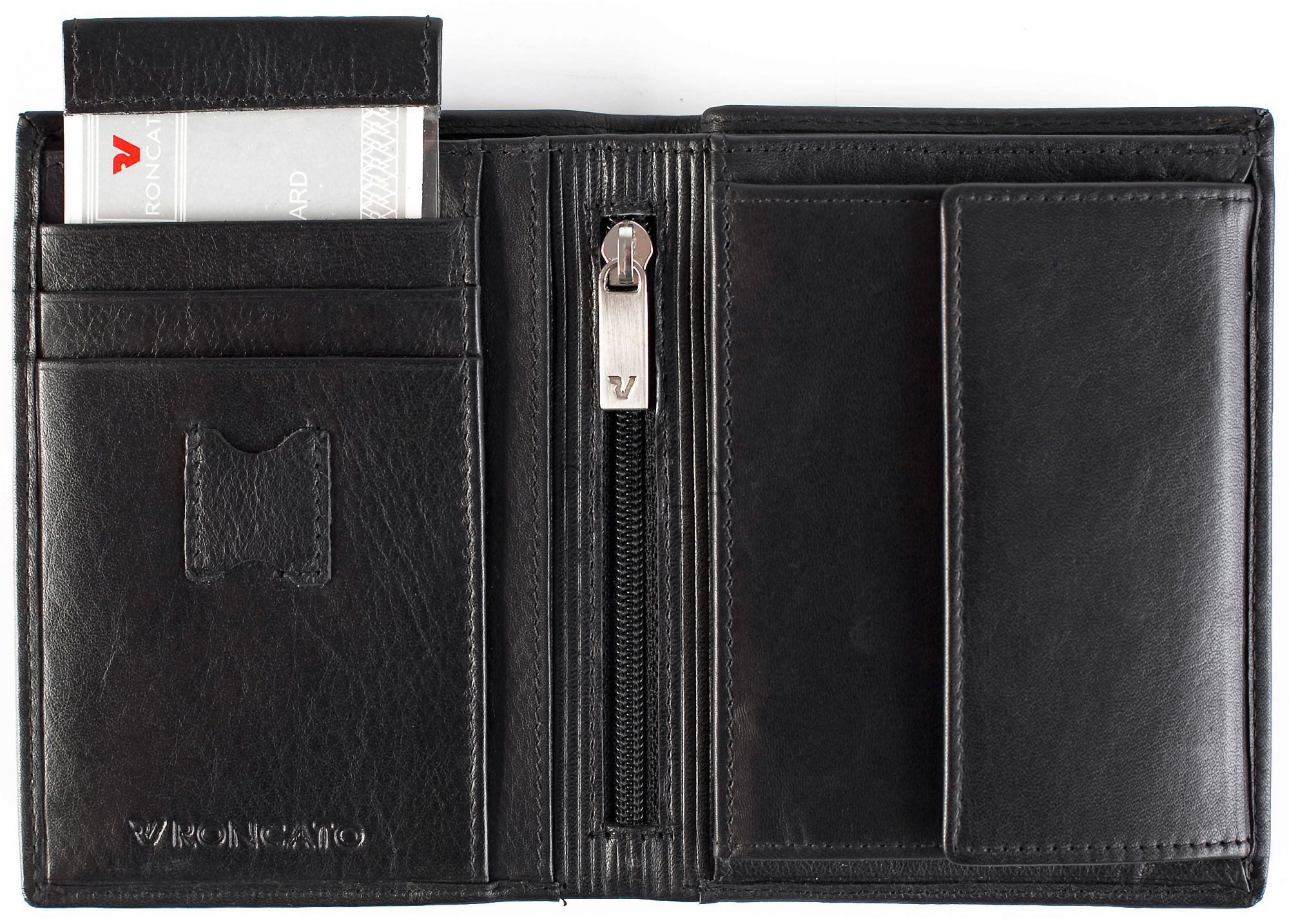 fcd6f673c6f23 Portfel męski skórzany marki Roncato z kolekcji Luxury - kolor ...
