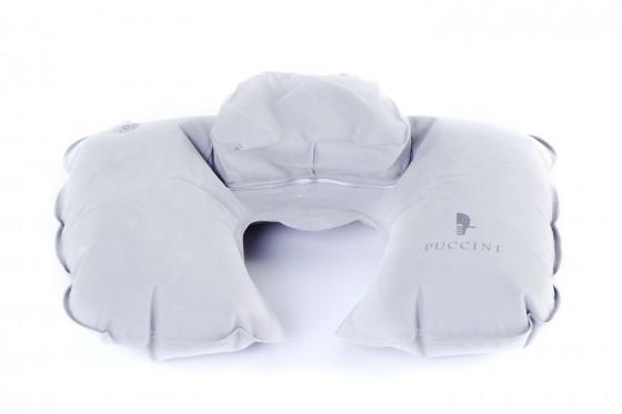 Puccini Zagłówek podróżny z poduszką szary