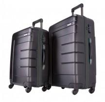 Travelite Vector Komplet 2 walizek czarnych