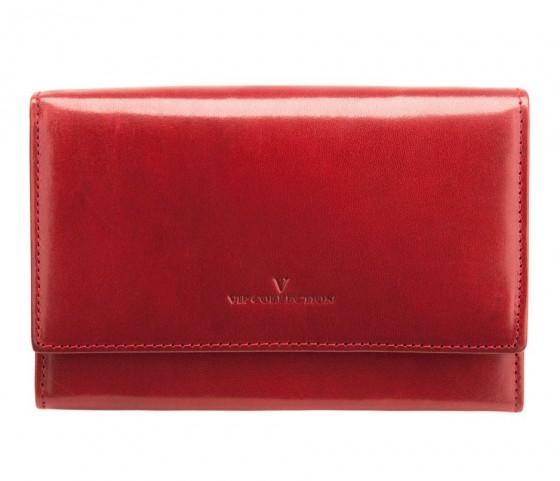 Vip Collection New York Portfel damski portmonetka czerwony