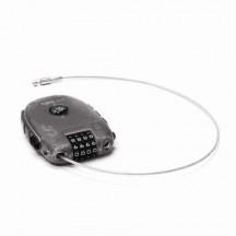 Pacsafe RetractaSafe 250 Linka stalowa z szyfrem szara