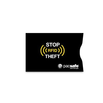 Pacsafe RFIDsleeve 25 Zestaw 2 sztuk - Etui chroniące karty kredytowe czarne