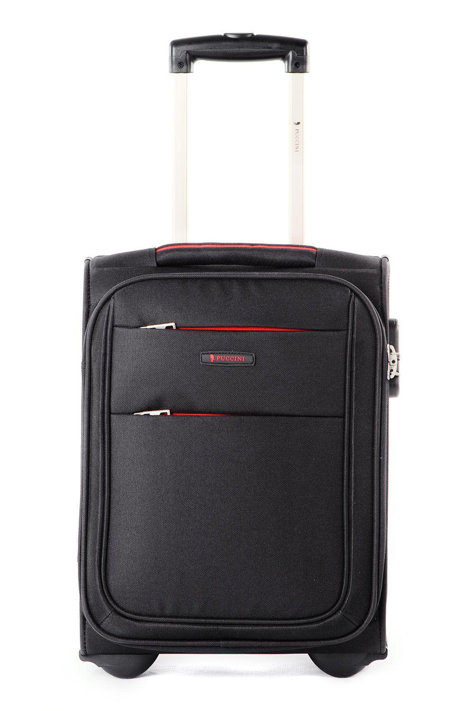 9e29f4cd3eece Walizka mała miękka (wymiar kabinowy WizzAir) marki Puccini z kolekcji  Camerino - kolor czarny ...