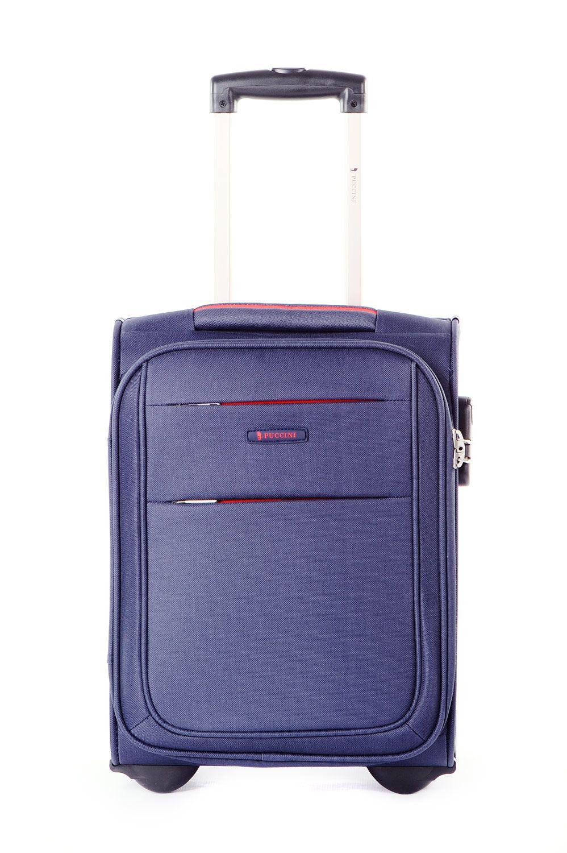 336a9dd4644f Walizka mała miękka (wymiar kabinowy WizzAir) marki Puccini z kolekcji  Camerino - kolor niebieski ...