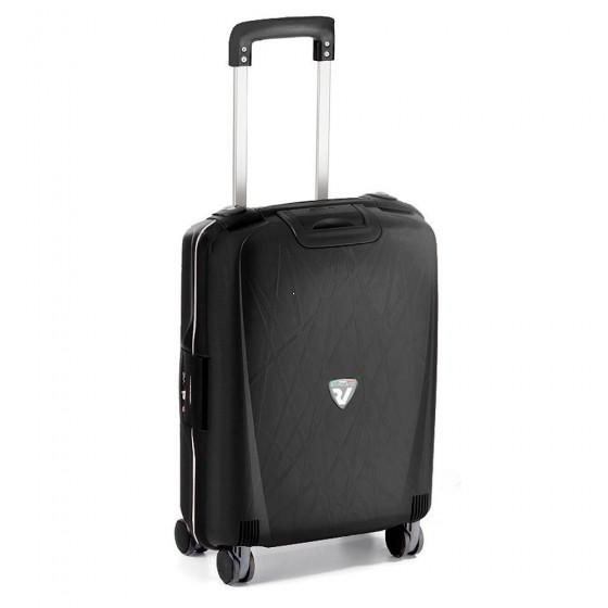 Roncato Light walizka mała kabinowa czarna