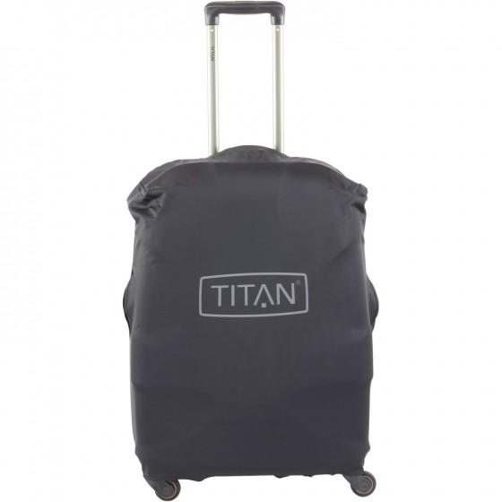 Titan Pokrowiec zabezpieczający na walizkę średnią czarny