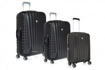 Roncato Uno SL Komplet 3 walizek czarnych
