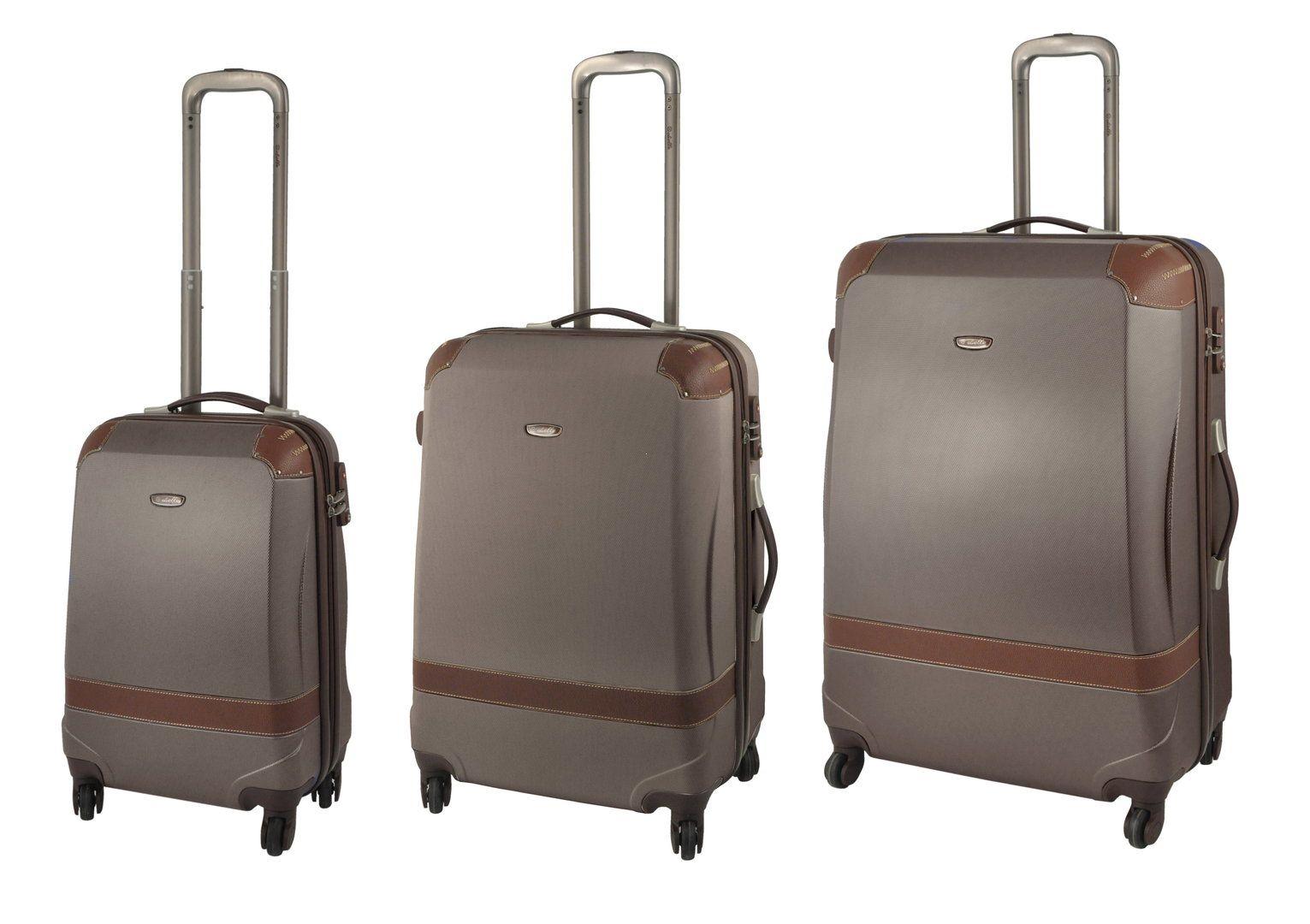 60f033302b150 Komplet 3 walizek twardych - duża, średnia, mała - 4 kółka, zamek ...