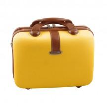 Dielle 255 Kuferek podróżny kosmetyczka żółty