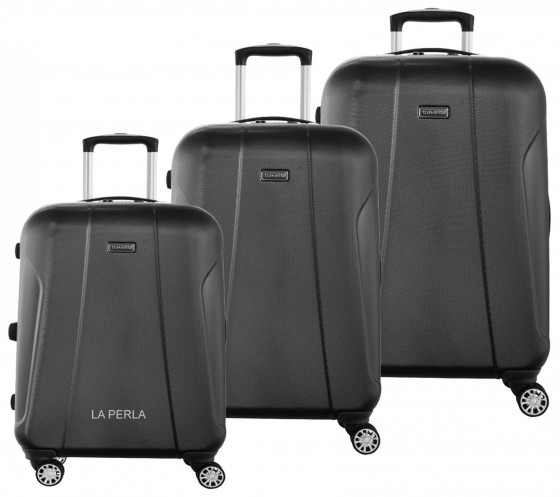 Travelite Elbe Two Komplet 3 walizek antracytowych