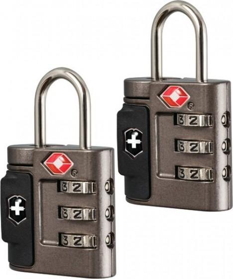 Victorinox Lifestyle Accessories 4.0 Zestaw 2 kłódek na szyfr TSA czarne