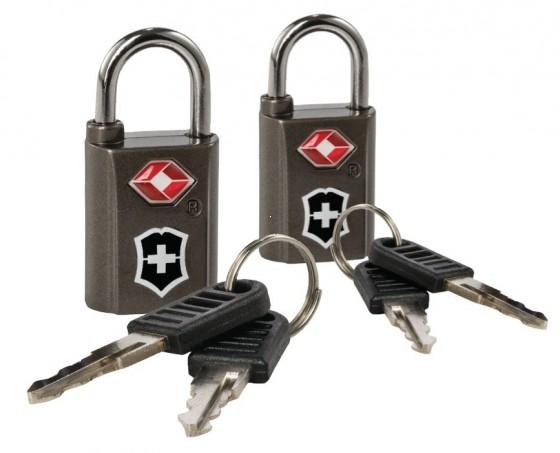 Victorinox Lifestyle Accessories 4.0 Kłódka na klucz komplet 2 sztuki z TSA czarna