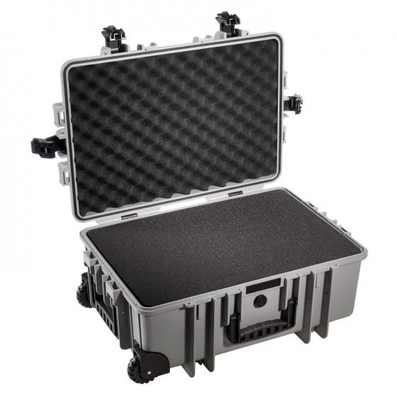 B&W International Walizka specjalistyczna na kółkach z miękką pianką Outdoor Cases szara