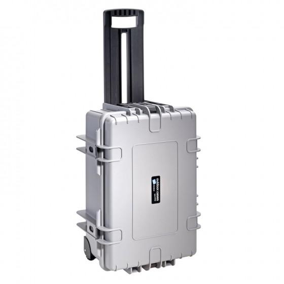 B&W International Walizka specjalistyczna na kółkach z podziałką wewnętrzną Outdoor Cases szara