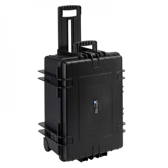 B&W International Walizka specjalistyczna na kółkach z podziałką wewnętrzną Outdoor Cases czarna