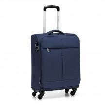 Walizka mała kabinówka miękka, 4 kółka, 46 litrów, poszerzana, zamek szyfrowy TSA, Nylon, marki Roncato kolekcja Ironik - kolor granatowy